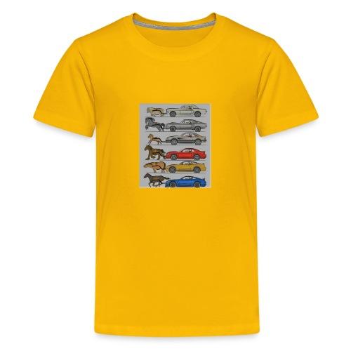 Cars with real animal logo - Kids' Premium T-Shirt