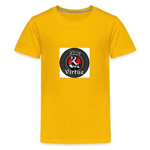 Vice and Virtue White Background No Info Circle - Kids' Premium T-Shirt