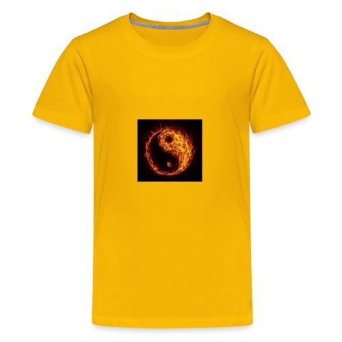 Panda fire circle - Kids' Premium T-Shirt