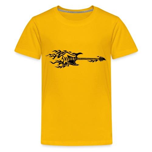 Electric Guitar Fire Illustration - Kids' Premium T-Shirt