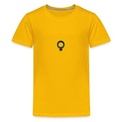blue retro rusted grunge icon symbols shape - Kids' Premium T-Shirt