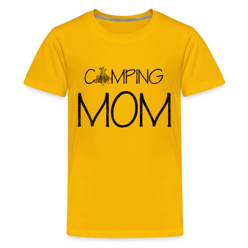 Camping Mom, Gift for Her, Mother's Day 2019 - Kids' Premium T-Shirt