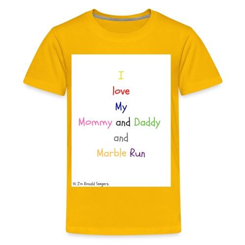 Hi I'm Ronald Seegers Collection-What I love - Kids' Premium T-Shirt