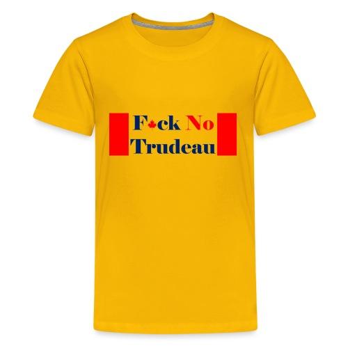 Feck No Trudeau Transparent - Kids' Premium T-Shirt