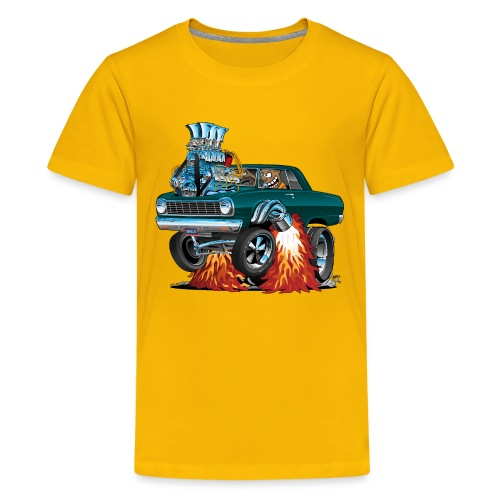 Sixties American Classic Muscle Car Cartoon - Kids' Premium T-Shirt
