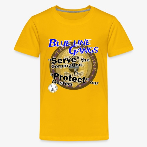Thin Blue Line - To Serve and Protect - Kids' Premium T-Shirt