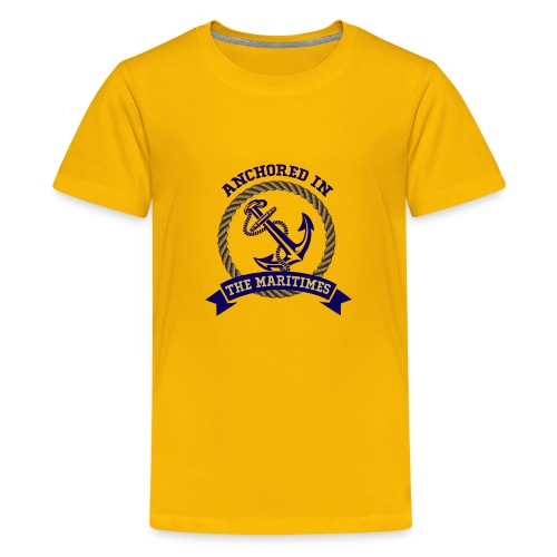 Anchored in the Maritimes - Kids' Premium T-Shirt