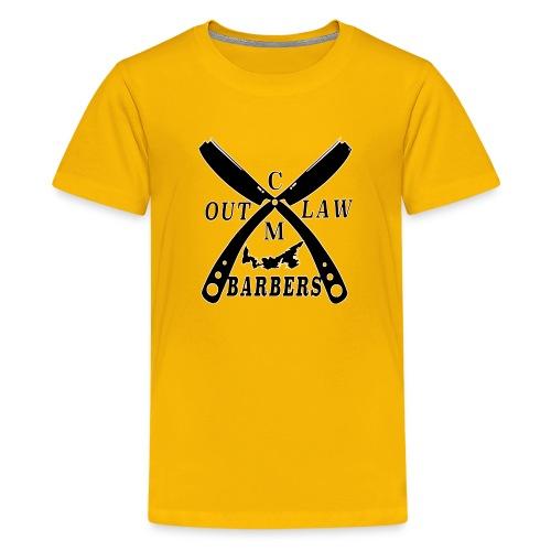 Outlaw Barbers Black Logo - Kids' Premium T-Shirt
