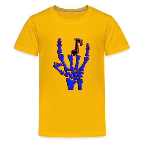 Rock on hand sign the devil's horns - Kids' Premium T-Shirt