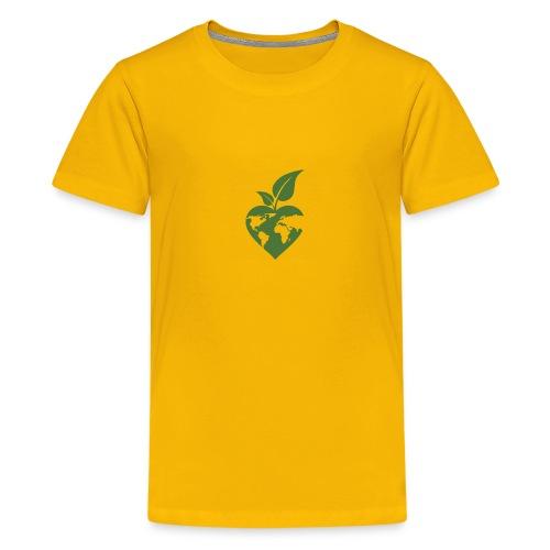 Heart, World, Grow - Kids' Premium T-Shirt