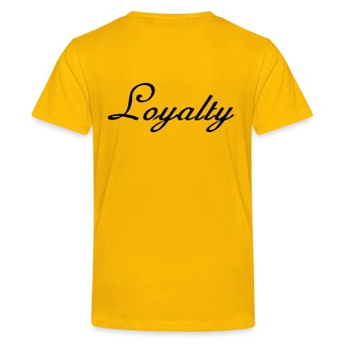 Loyalty Brand Items - Black Color - Kids' Premium T-Shirt