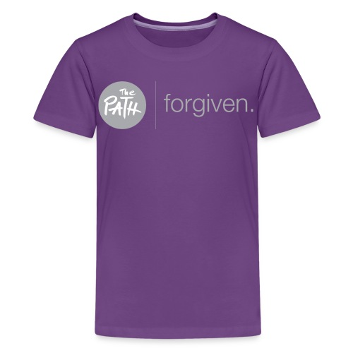 The Path Forgiven Logo In Grey - Kids' Premium T-Shirt