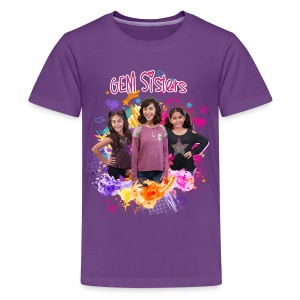 GEM Sisters Color Splash (Bright) - Kids' Premium T-Shirt