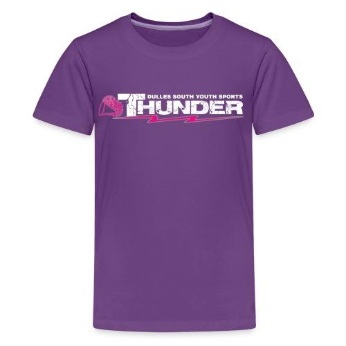 DSYS Cheer Logo Transparent White w/Pink - Kids' Premium T-Shirt
