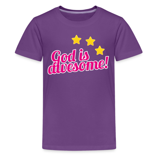 God is awesome! Pink version. - Kids' Premium T-Shirt