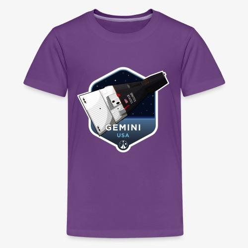 Space Race Series: GEMINI (Large print) - Kids' Premium T-Shirt