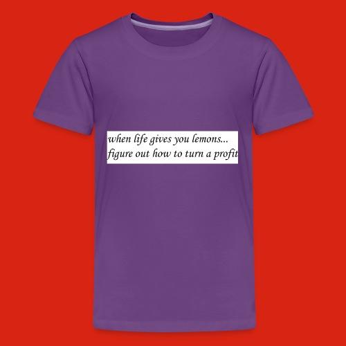 when life gives business man lemons - Kids' Premium T-Shirt