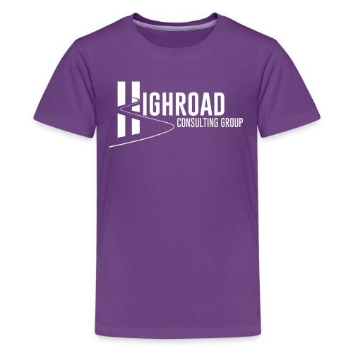 Highroad logo Overlay White - Kids' Premium T-Shirt