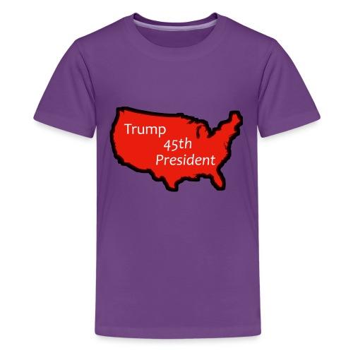 Trump 45th President (Bold Red USA) - Kids' Premium T-Shirt