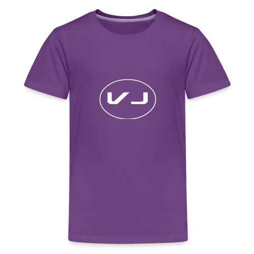 Vloggerjoe White circle lgo - Kids' Premium T-Shirt