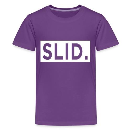WHITE SLID. - Kids' Premium T-Shirt