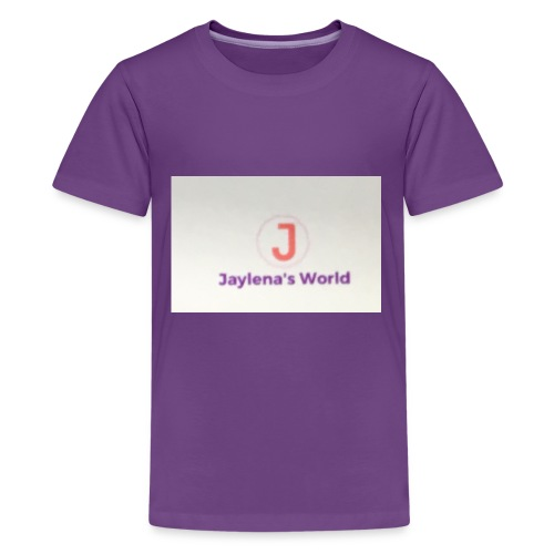 Jaylena's World logo - Kids' Premium T-Shirt