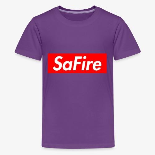 SaFire box logo tee - Kids' Premium T-Shirt