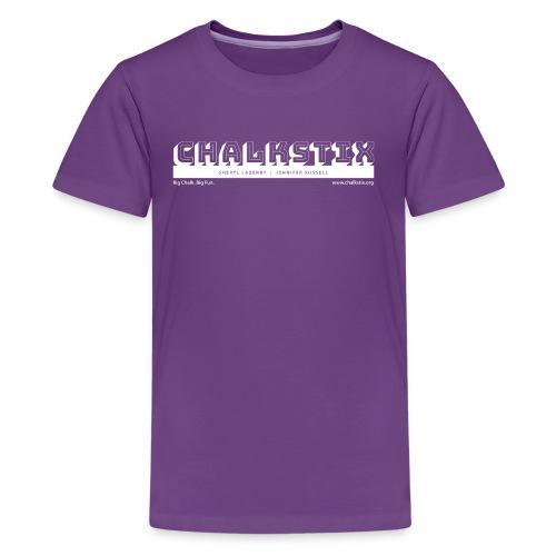 chalkstix logo WHITE - Kids' Premium T-Shirt