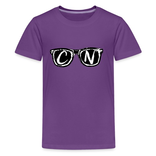 CN Black / White Signature Sunglasses - Kids' Premium T-Shirt