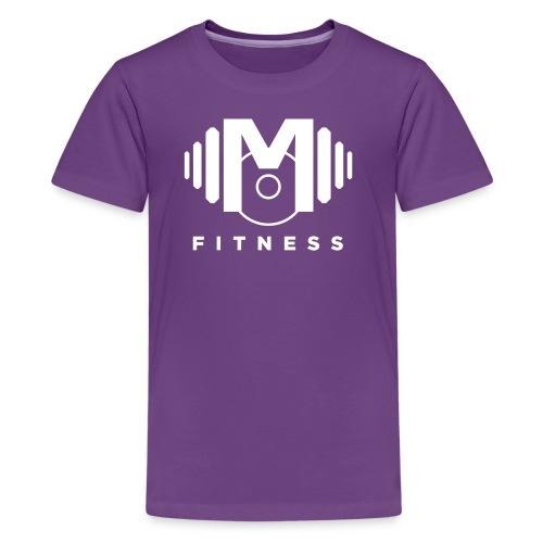 Mo Fitness - White - Kids' Premium T-Shirt