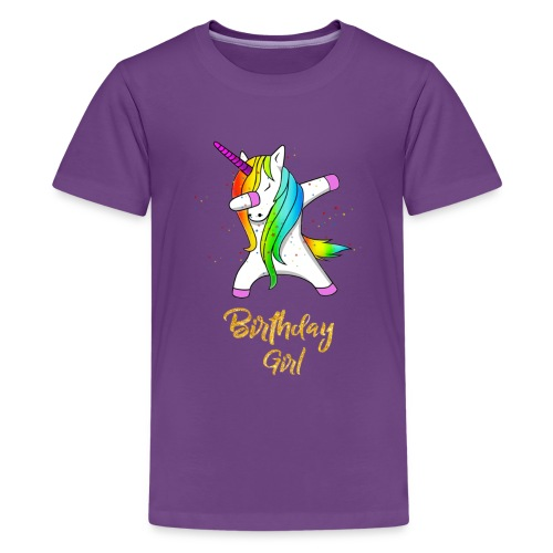 unicorn birthday girl - Kids' Premium T-Shirt