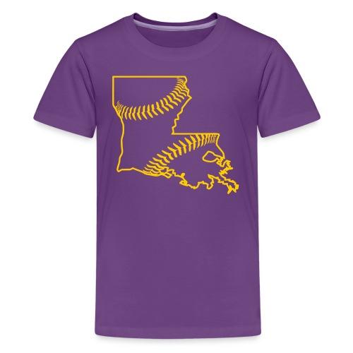 Louisiana Baseball, Gold - Kids' Premium T-Shirt