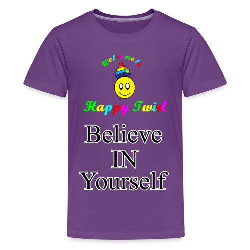 HTS Believe in Yourself Highlighted Logo - Kids' Premium T-Shirt