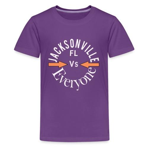 Cool Jacksonville v everyone design - Kids' Premium T-Shirt