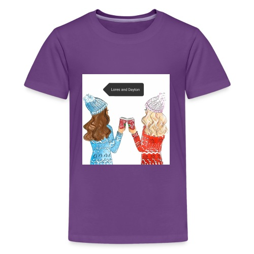 Snow day with coffee (D&L) - Kids' Premium T-Shirt