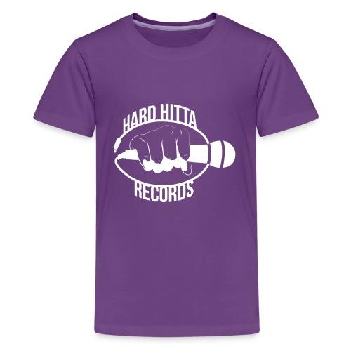 HARD_HITTA_LOGO_W - Kids' Premium T-Shirt
