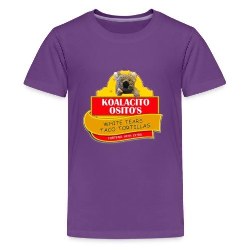 Koalacito Osito's White Tears Taco Tortillas - Kids' Premium T-Shirt