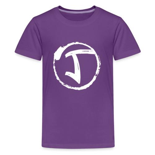 JKrew Simple White logo - Kids' Premium T-Shirt