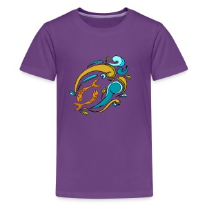 Sketchy Pisces Shirt - Kids' Premium T-Shirt