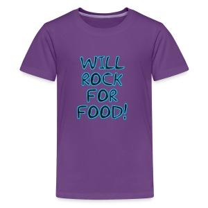 Will Rock4Food - Kids' Premium T-Shirt