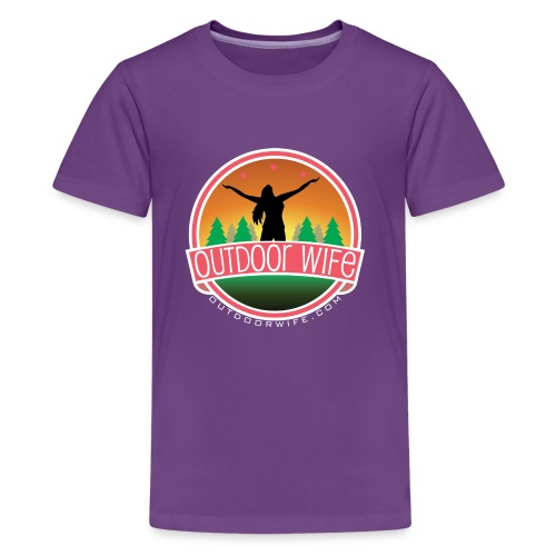 outdoorwifelogowhite 01 01 - Kids' Premium T-Shirt