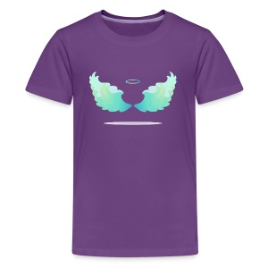 Angel wings with nimbus - Kids' Premium T-Shirt