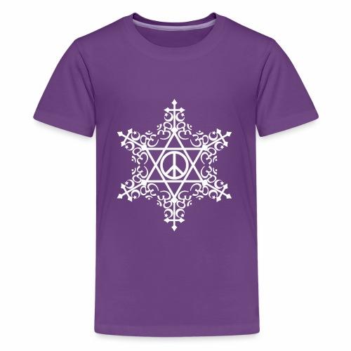 Interfaith Peace snowflake - Kids' Premium T-Shirt