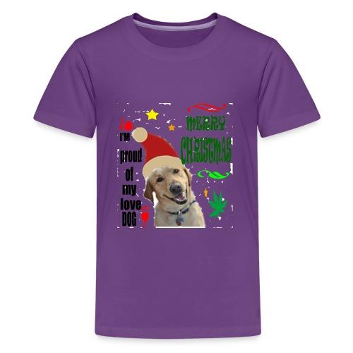 christmas with your dog - Kids' Premium T-Shirt