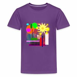 Geometric Booming - Kids' Premium T-Shirt