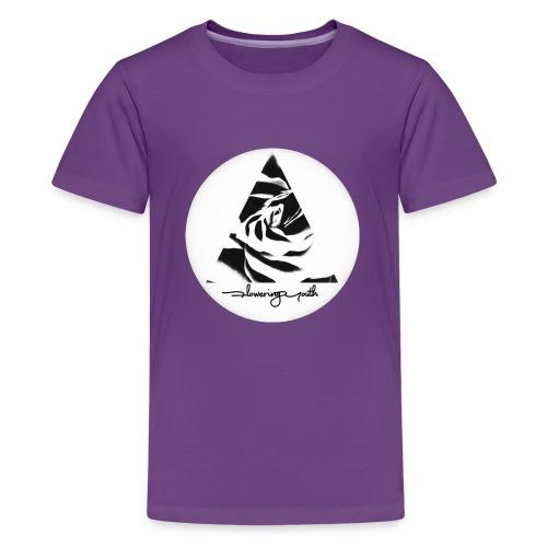 Flowering Youth Black and White - Kids' Premium T-Shirt