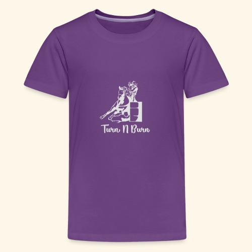 Turn N Burn Barrel Racer - Kids' Premium T-Shirt