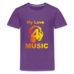Blackprince LOVE FOR MUSIC - Kids' Premium T-Shirt