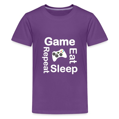 Eat Sleep Game Repeat Gaming Gift Fathers Day - Kids' Premium T-Shirt