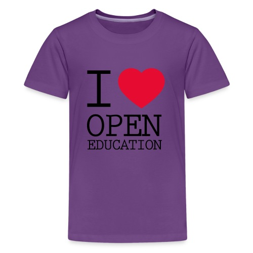 I Love Open Education - Kids' Premium T-Shirt